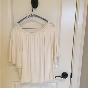 LOFT cream colored blouse
